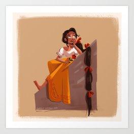 Mexican Rapunzel Art Print