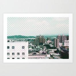 Akita city Art Print