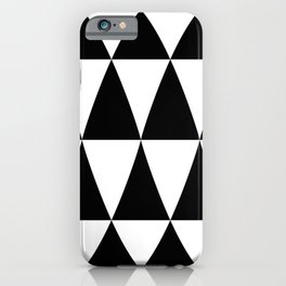 Triangle waves and swirls iPhone Case