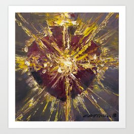 Cor Jesu Sacratissimi (The Jewel of Light II) Art Print