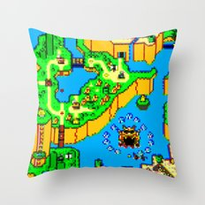 Mario World '84 Throw Pillow