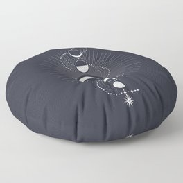 The Moon Fluctuation Floor Pillow
