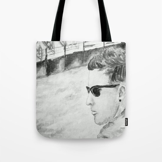B/W I am not famous Tote Bag