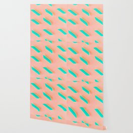 Neon Abstract Pasta Noodles Pattern (Color) Wallpaper