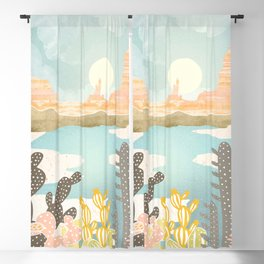 Retro Desert Oasis Blackout Curtain