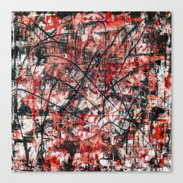 Triple X- black and red Canvas Print