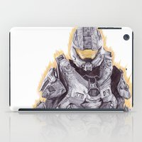 master chief iPad Cases featuring Halo Master Chief by DeMoose_Art