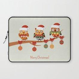 Owl christmas tree Laptop Sleeve