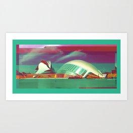 Valencia, Spain | Project L0̷SS   Art Print