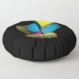3D Art Sphere 4 - Cutting To The Core Series Floor Pillow
