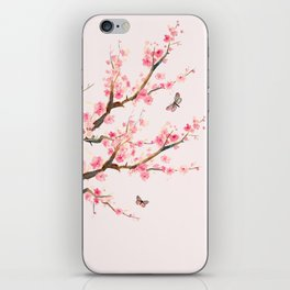 Pink Cherry Blossom Dream iPhone Skin