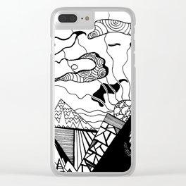 Zentangle Mountain Clear iPhone Case