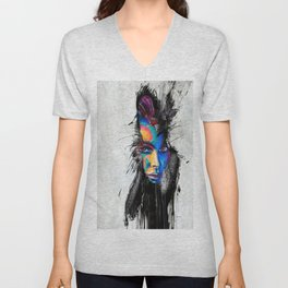 Facial Expression Unisex V-Neck