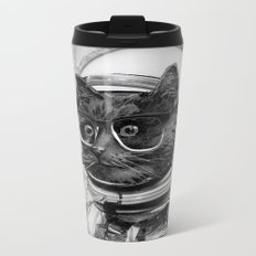 Space Kitten Metal Travel Mug