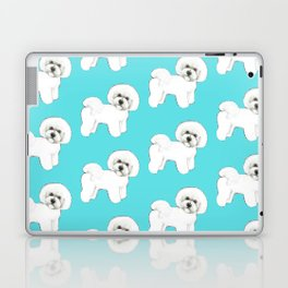 Bichon Frise on aqua / teal / cute dogs/ dog lovers gift Laptop & iPad Skin