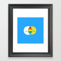 (((rainbows Framed Art Print