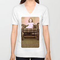 leah flores V-neck T-shirts featuring Princes Leah by Dragonfly