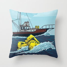 Jaws: Orca Illustration Throw Pillow