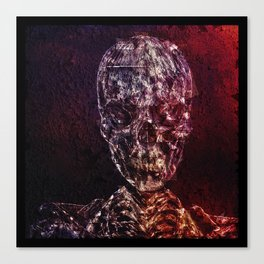 Skeleton Glitch Canvas Print
