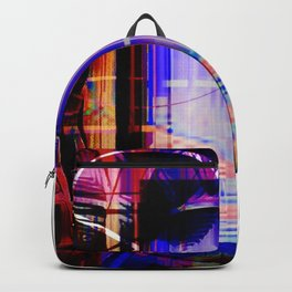 Abstract Overlay Backpack