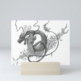 Black and Grey Dragon Tattoo Art Mini Art Print
