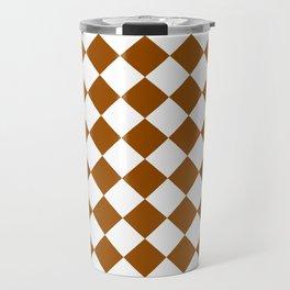 Diamonds - White and Brown Travel Mug