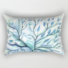 Tree of Life (blues) Rectangular Pillow