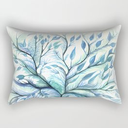 Tree of Life (blues) Rectangular Pillow