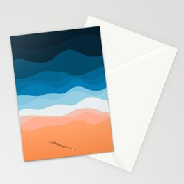 The Lone Surfer | Aerial Stationery Cards