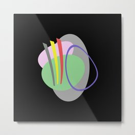 Mid Century IV - Abstract, pastel, minimalism Metal Print