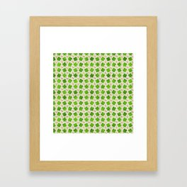 Irish Shamrock Four-leaf clover pattern Framed Art Print