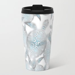 Silver Turtles Pattern Travel Mug