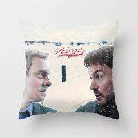 fargo Throw Pillows featuring Fargo tv serie by Magdalena Almero