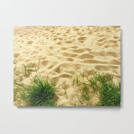 Sand and Grass Photography Metal Print