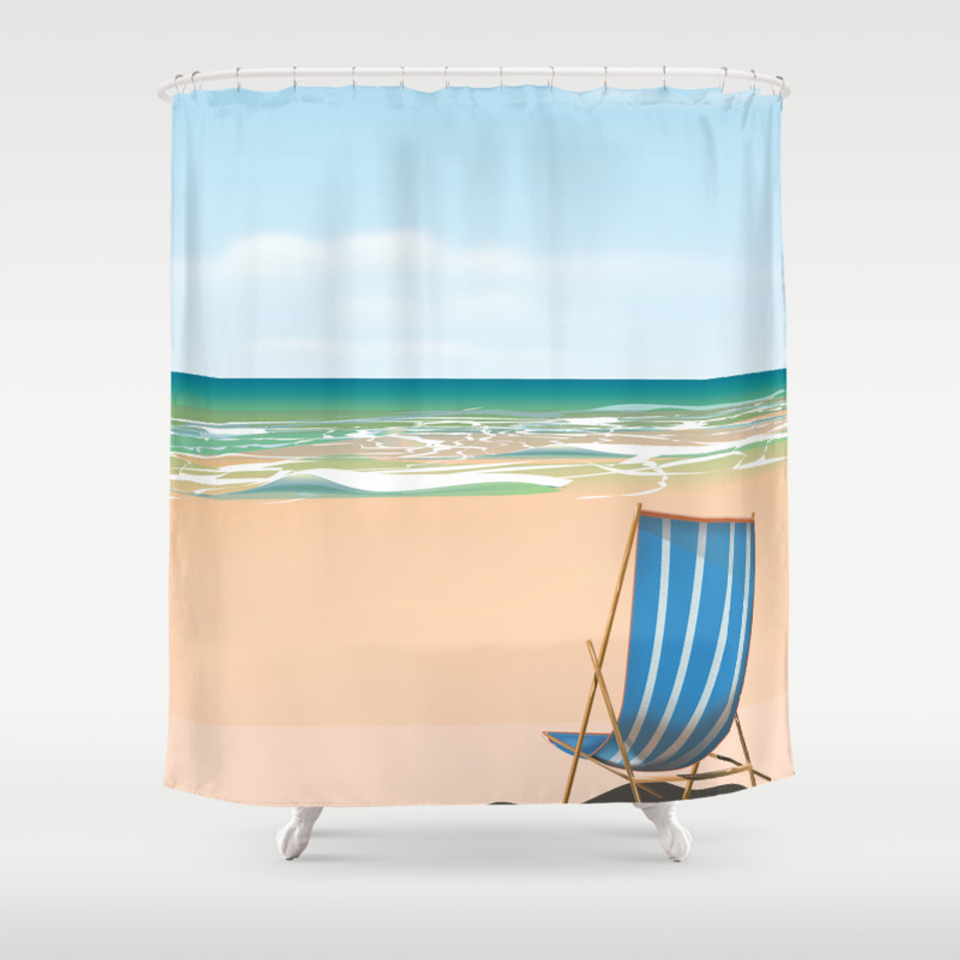 Random Beach, Sea, Turtle And Watercolor Shower Curtains | Page 74 Of 95 |  Society6