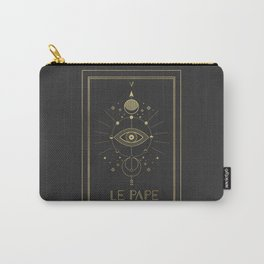 Le Pape or The Pope Gold Carry-All Pouch