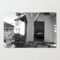 The house that collapsed.  Canvas Print
