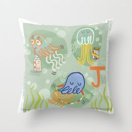 """J"" Throw Pillow"