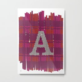 Winter clothes. Letter A III. Metal Print