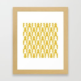 Art Deco Jagged Edge Pattern Mustard Yellow Framed Art Print
