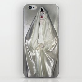 "say no to patriarchy / ""the virgin"" iPhone Skin"
