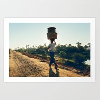 Lonely Burmese Farmer Art Print
