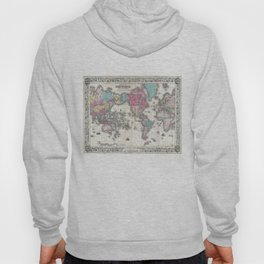 Vintage Map of The World (1852) Hoody