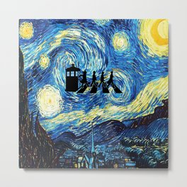The Doctors Walking Of Starry Night Metal Print