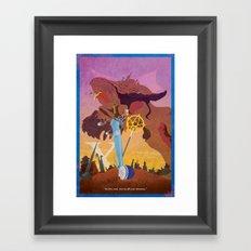 Vintage FF Poster X Framed Art Print