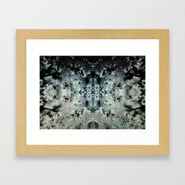 Natural Blue Formation Framed Art Print