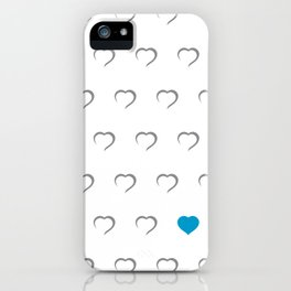 Hearts - Blue iPhone Case