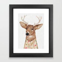 White Tailed Deer Framed Art Print
