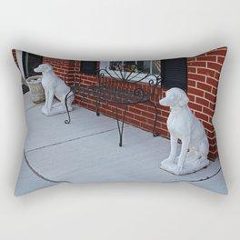 Two Guard Dogs Rectangular Pillow