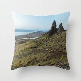 OldMan of Storr Throw Pillow